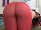 Financial Domination and Ass worship in red pantyhose