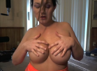 Oiled up Dildo Titty Fuck