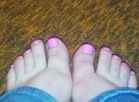 Minimum 10 photos Paint or play with my cute little pink toes for you